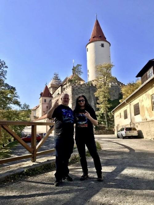 Evan A Hanny na návštěvě hradu Křivoklát