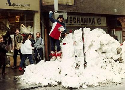 Prcek a snow in Prague