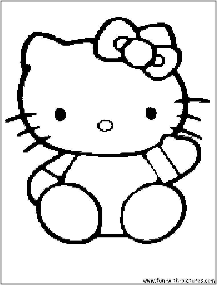 punk hello kitty coloring pages - photo#5
