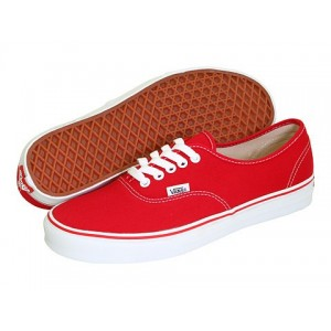 Vans Boty Cervene